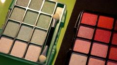 Cosmetics - Makeup - Closeup 01 - stock footage