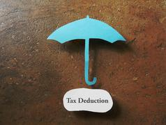 Tax deduction concept Stock Photos