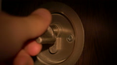 Burglar Opens Lock Stock Footage