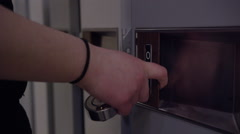 Education and School System - Lockers in a high school environment Stock Footage