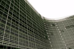 EU building in Brussels Belgium with big wide curve Stock Photos