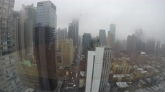 New York City NYC daytime time-lapse clouds rain Midtown 8th Ave from apartment Stock Footage