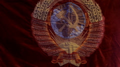 emblem of the USSR - stock footage