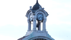 old clock tower with the hurried movement of arrows and clouds-timelapse - stock footage