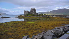 Eilean Donan castle in Dornie, Scotland Stock Footage