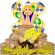 Stock Illustration of Fantasy mushroom fairy