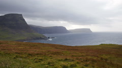 Neist point on the Isle of Skye Stock Footage