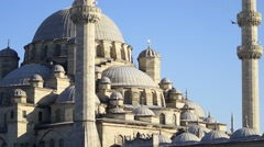 Close up of Yenicami Mosque Architecture. City center in Istanbul, Turkey Stock Footage