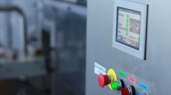 Industrial control panel display and production line control buttons Stock Footage