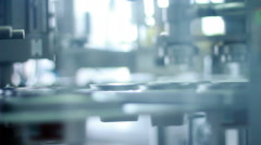 Packing machine. Food packing process at modern factory Stock Footage