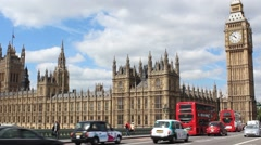 Big Ben And The Parliamente in London - stock footage