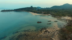 Aerial view of payam island ranong southern of thailand Stock Footage