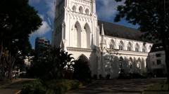 Exterior of the Saint Andrew cathedral in Singapore, Singapore. Stock Footage