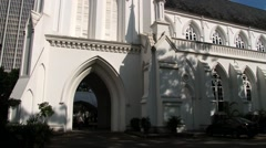 Exterior of the Saint Andrew cathedral in Singapore, Singapore. - stock footage