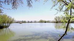 Lake at spring in Bekaa, Lebanon - stock footage