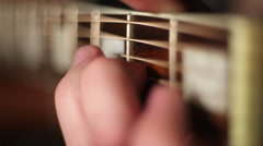 Acoustic guitar. Strings.  - stock footage