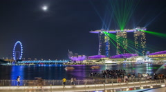 Timelapse of Marina Bay Lightshow in Singapore - stock footage