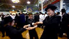 Jewish hasidic dance 6 - uman-ukraine 2015 Stock Footage