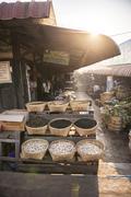 Stock Photo of Kalaw market at sunrise, Shan State, Myanmar (Burma), Asia