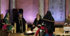 Sanhedrin Jesus trial Stock Footage