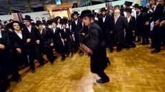 Jewish hasidic dance 5 - uman-ukraine 2015 Stock Footage