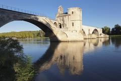 Bridge St. Benezet over Rhone River, UNESCO World Heritage Site, Avignon, - stock photo