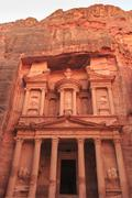 The Treasury (Al-Khazneh), Petra, UNESCO World Heritage Site, Jordan, Middle Stock Photos