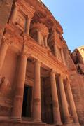 The Treasury (Al-Khazneh), Petra, UNESCO World Heritage Site, Jordan, Middle - stock photo