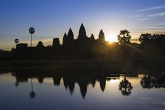 Sunrise, Angkor Wat Temple, UNESCO World Heritage Site, Angkor, Siem Reap, Stock Photos
