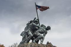 US Marine Corps War Memorial, Arlington, Virginia, United States of America, Stock Photos