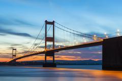 Old (First) Severn Bridge, Avon, England, United Kingdom, Europe Stock Photos