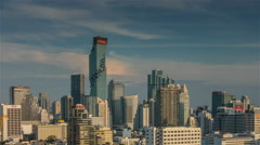 Sunset bangkok famous building downtown panorama 4k time lapse thailand Stock Footage