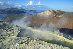 Gran Cratere (The Large Crater), Vulcano Island, Aeolian Islands, UNESCO World - stock photo