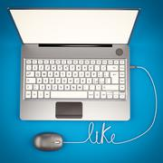 Laptop 3D illustrator - stock illustration