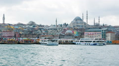 Timelapse of the Bosporus in Istanbul - stock footage