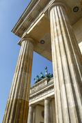 Brandenburg Gate (Brandenburger Tor), Mitte, Berlin, Germany, Europe - stock photo