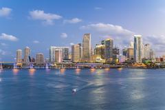 Downtown Miami skyline, Miami, Florida, United States of America, North America - stock photo