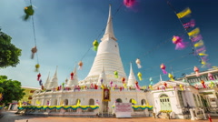 Bangkok sunny day famous temple 4k hyper time lapse thailand Stock Footage