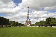Parc du Champ de Mars, Eiffel Tower, Paris, France, Europe - stock photo
