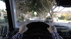 Commuting to work seen through person point of view. Driver POV. Stock Footage