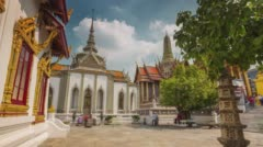 Bangkok main temple of the emerald buddha square 4k time lapse thailand Stock Footage