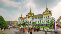 Bangkok temple of the emerald buddha palace 4k time lapse thailand Stock Footage
