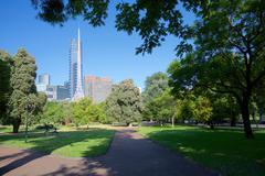 Queen Victoria Gardens, Melbourne, Victoria, Australia, Pacific Stock Photos