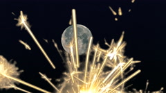 Rocket Dollar Flying Towards Night Moon Stock Footage