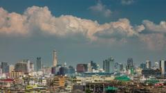 Sunny sky bangkok city cityscape panorama 4k time lapse thailand Stock Footage