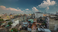 Bangkok sunny day living block roof top panorama 4k time lapse thailand Stock Footage