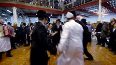Jewish hasidic dance 4 - uman-ukraine 2015 Stock Footage