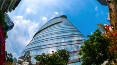 Static view of clouds gathering over Bitexco Financial Tower Stock Footage