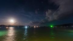 rawai beach moon road boat park 4k time lapse phuket thailand - stock footage