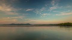 Phuket island sunset sky non tourist beach panorama 4k time lapse thailand Stock Footage